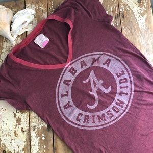 VS Pink University of Alabama V-Neck T Shirt